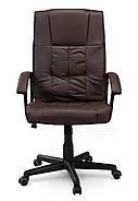 Кресло стул офисный кожаный Sofotel EG-234 коричневый, фото 3