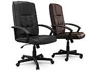 Кресло стул офисный кожаный Sofotel EG-234 коричневый, фото 5