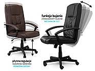 Кресло стул офисный кожаный Sofotel EG-234 коричневый, фото 8