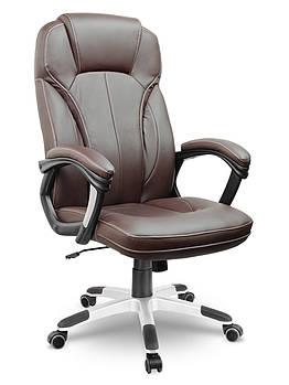 Кресло стул офисный кожаный Sofotel EG-222 коричневый Марка Европы