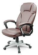 Кресло стул офисный кожаный Sofotel EG-222 коричневый, фото 3