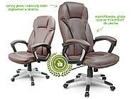 Кресло стул офисный кожаный Sofotel EG-222 коричневый, фото 5