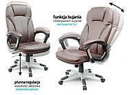 Кресло стул офисный кожаный Sofotel EG-222 коричневый, фото 6