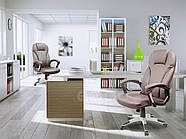 Кресло стул офисный кожаный Sofotel EG-222 коричневый, фото 7