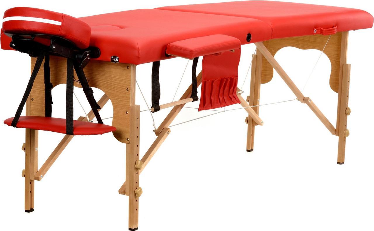 Стіл, ліжко для масажу 2 секційні дерев'яні BODYFIT