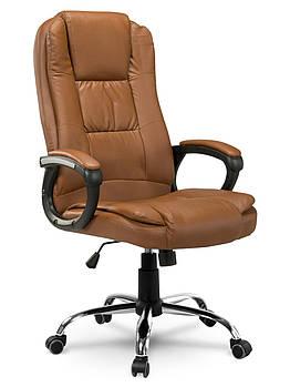 Кресло стул офисный кожаный Sofotel EG-230 светло-коричневый Марка Европы