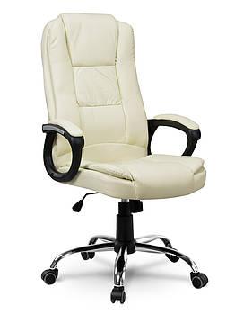 Кресло стул офисный кожаный Sofotel EG-230 бежевый Марка Европы