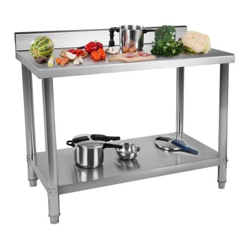 Рабочий стол из нержавеющей стали - 100 x 60 см - 90 кг - громкие слова Royal Catering