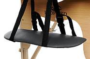 Масажний стіл 2 сегмента дерев'яний, czarne, фото 4