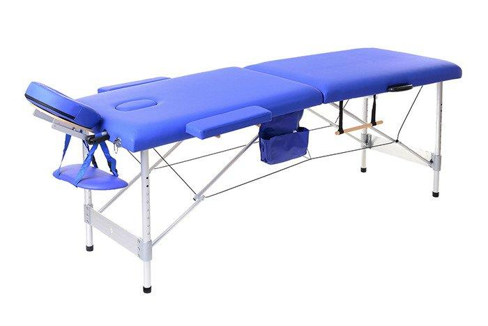 Масажная кровать 2 сегмента алюминий, niebieskie