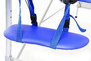 Масажная кровать 2 сегмента алюминий, niebieskie, фото 3