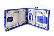 Масажная кровать 2 сегмента алюминий, niebieskie, фото 4