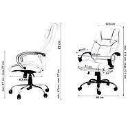 Кресло руководителя офисное Vecotti Eden VIP белый, фото 6