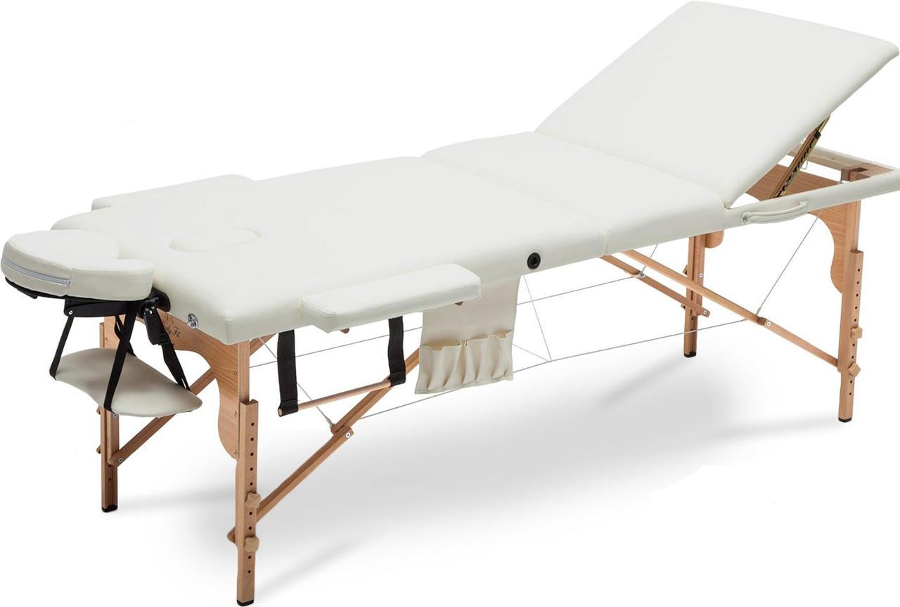 Стіл, ліжко для масажу 3 секційні дерев'яні XXL BODYFIT