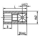 """Насадка шестигранная короткая 1/4"""" 14мм CrV ULTRA (6060142), фото 2"""