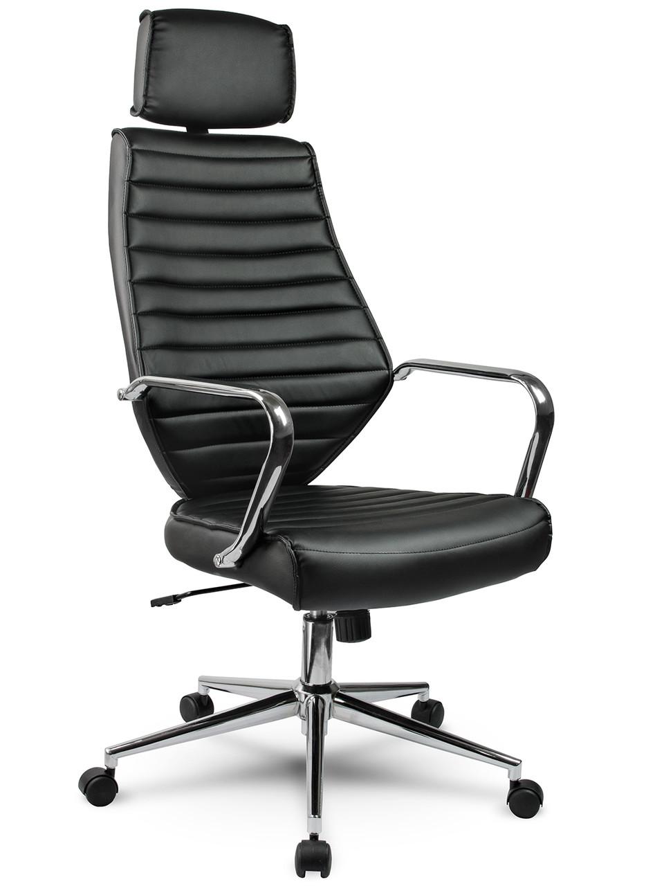 Кресло стул офисный кожаный Sofotel EG-225 черный