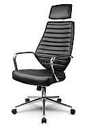 Кресло стул офисный кожаный Sofotel EG-225 черный, фото 2