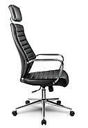 Кресло стул офисный кожаный Sofotel EG-225 черный, фото 3