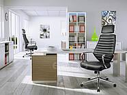 Кресло стул офисный кожаный Sofotel EG-225 черный, фото 7