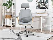 Кресло дизайнерское офисное деревянное FRANK BUKOWO SZARY , фото 3