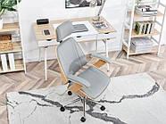 Кресло дизайнерское офисное деревянное FRANK BUKOWO SZARY , фото 5