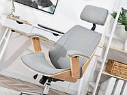 Кресло дизайнерское офисное деревянное FRANK BUKOWO SZARY , фото 6