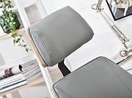 Кресло дизайнерское офисное деревянное FRANK BUKOWO SZARY , фото 7