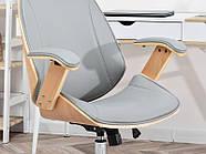 Кресло дизайнерское офисное деревянное FRANK BUKOWO SZARY , фото 8