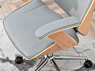 Кресло дизайнерское офисное деревянное FRANK BUKOWO SZARY , фото 9