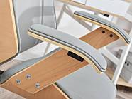 Кресло дизайнерское офисное деревянное FRANK BUKOWO SZARY , фото 10