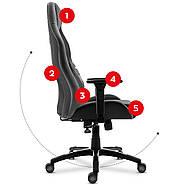 Игровое кресло HUZARO FORCE 7.3 ГРЕЙ, фото 9