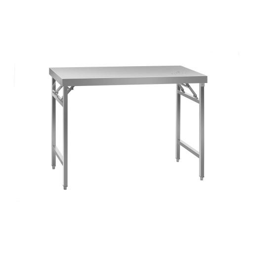 Складной рабочий стол - 60 х 120 см - нержавеющая сталь Royal Catering