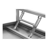 Складной рабочий стол - 60 х 120 см - нержавеющая сталь Royal Catering, фото 4