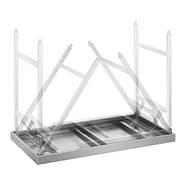 Складной рабочий стол - 60 х 120 см - нержавеющая сталь Royal Catering, фото 6