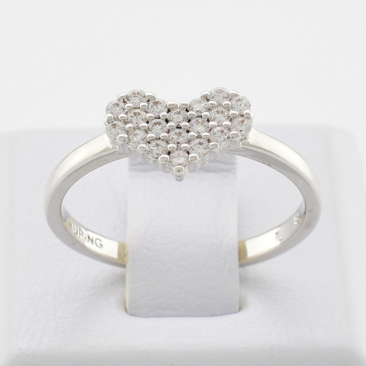 Кольцо Xuping 13647 размер 18 ширина 6 мм куб. цирконий вес 1.9 г Белое Золото