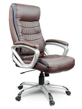 Кресло стул офисный кожаный Sofotel EG-226 коричневый Марка Европы