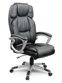 Кресло стул офисный кожаный Sofotel EG-227 черный Марка Европы
