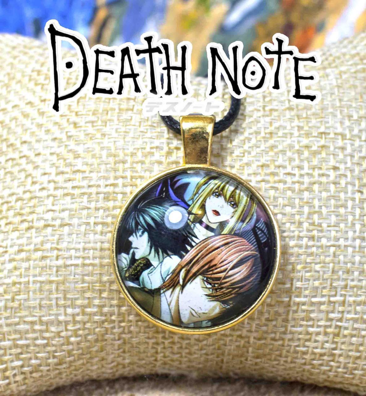 Кулон с изображением персонажей Тетрадь смерти Death note