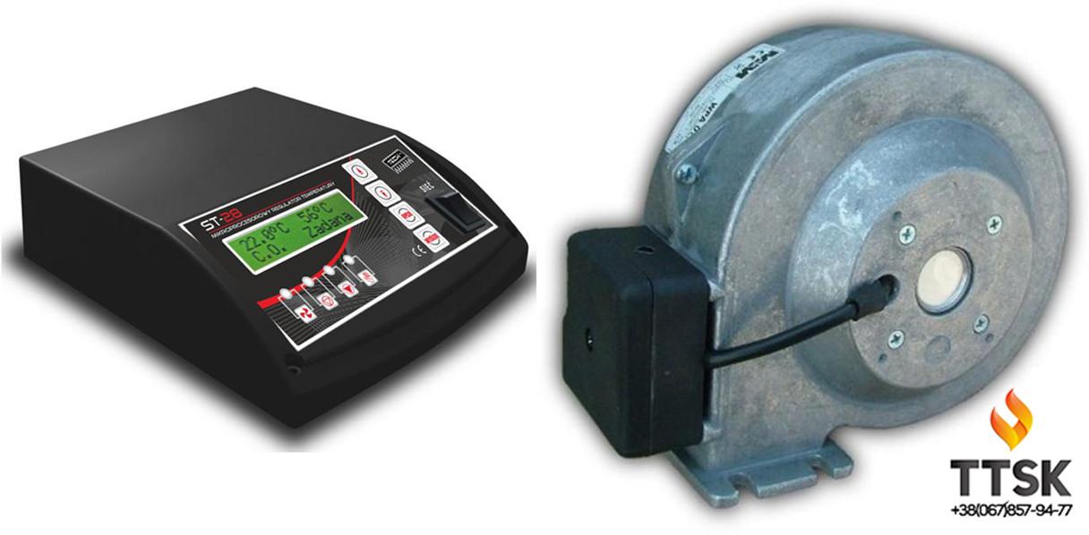 Комплект автоматики для котла на твёрдом топливе Tech ST28+WPA120