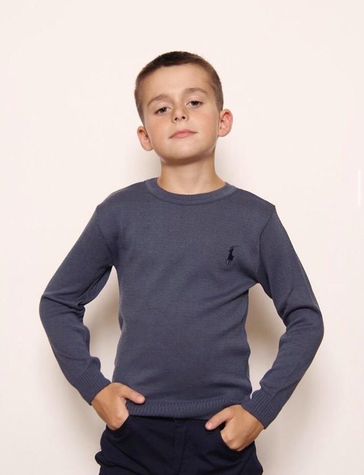 """Стильный легкий джемпер свитер для подростков """"Поло"""""""