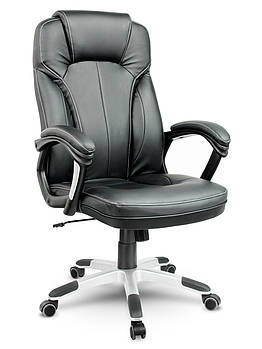 Кресло стул офисный кожаный Sofotel EG-222 черный Марка Европы