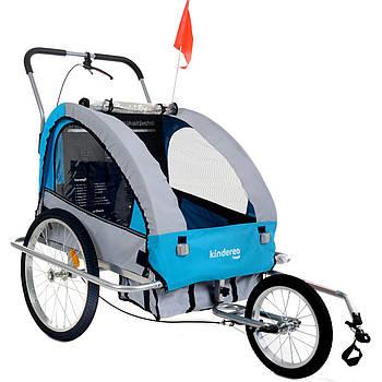 Прицеп велосипедный PR0103 2-местный (3 в 1) синяя Kindereo Марка Европы