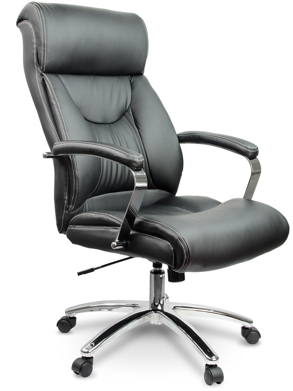 Кресло стул офисный кожаный Sofotel EG-224 черный