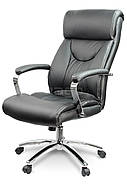 Кресло стул офисный кожаный Sofotel EG-224 черный, фото 2
