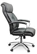 Кресло стул офисный кожаный Sofotel EG-224 черный, фото 3