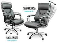 Кресло стул офисный кожаный Sofotel EG-224 черный, фото 6