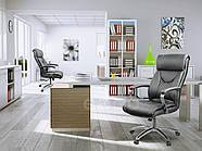 Кресло стул офисный кожаный Sofotel EG-224 черный, фото 7