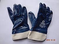 Перчатки синие трикотажные маслостойкие с нитриловым покрытием INTERTOOL  (упаковка 12 пар), фото 1