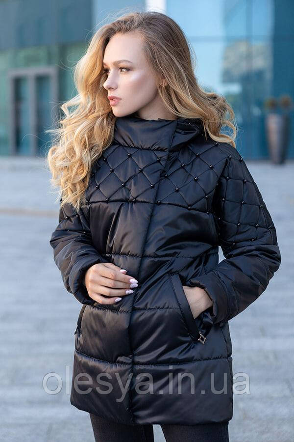 Куртка демисезонная женская Бусинка ТМ Miorichi Размеры 46- 54