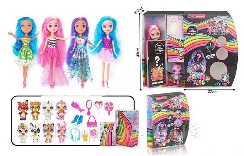 Детская кукла серии Poopsie, питомец, 2-е коробочки сюрприз